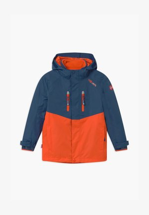 KIDS BRYGGEN JACKET UNISEX 2-IN-1 - Hardshellová bunda - mystic blue/orange
