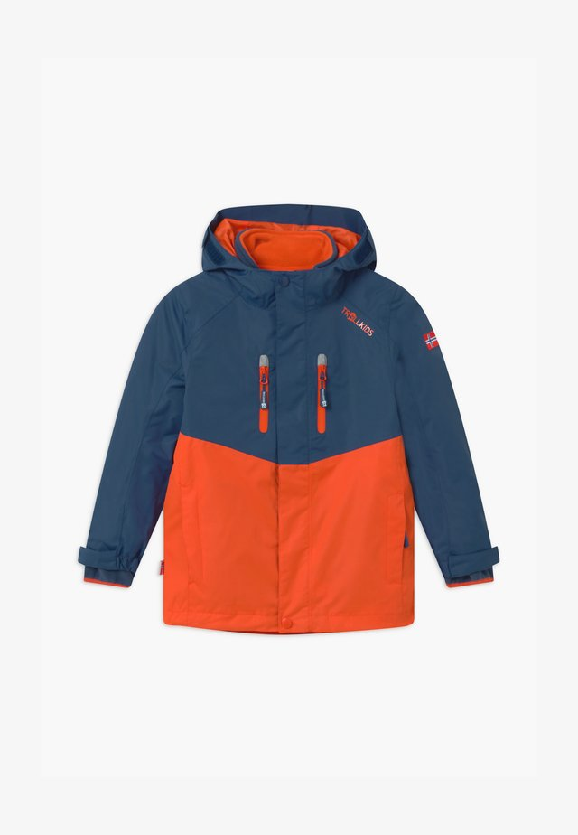 KIDS BRYGGEN JACKET UNISEX 2-IN-1 - Outdoorjas - mystic blue/orange