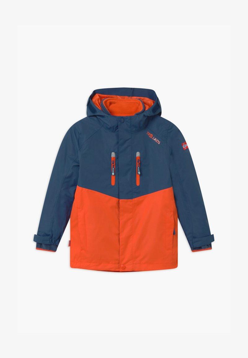 TrollKids - KIDS BRYGGEN JACKET UNISEX 2-IN-1 - Hardshell jacket - mystic blue/orange