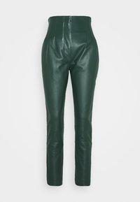 Alberta Ferretti - LEATHERPIECES TROUSERS - Trousers - green - 6