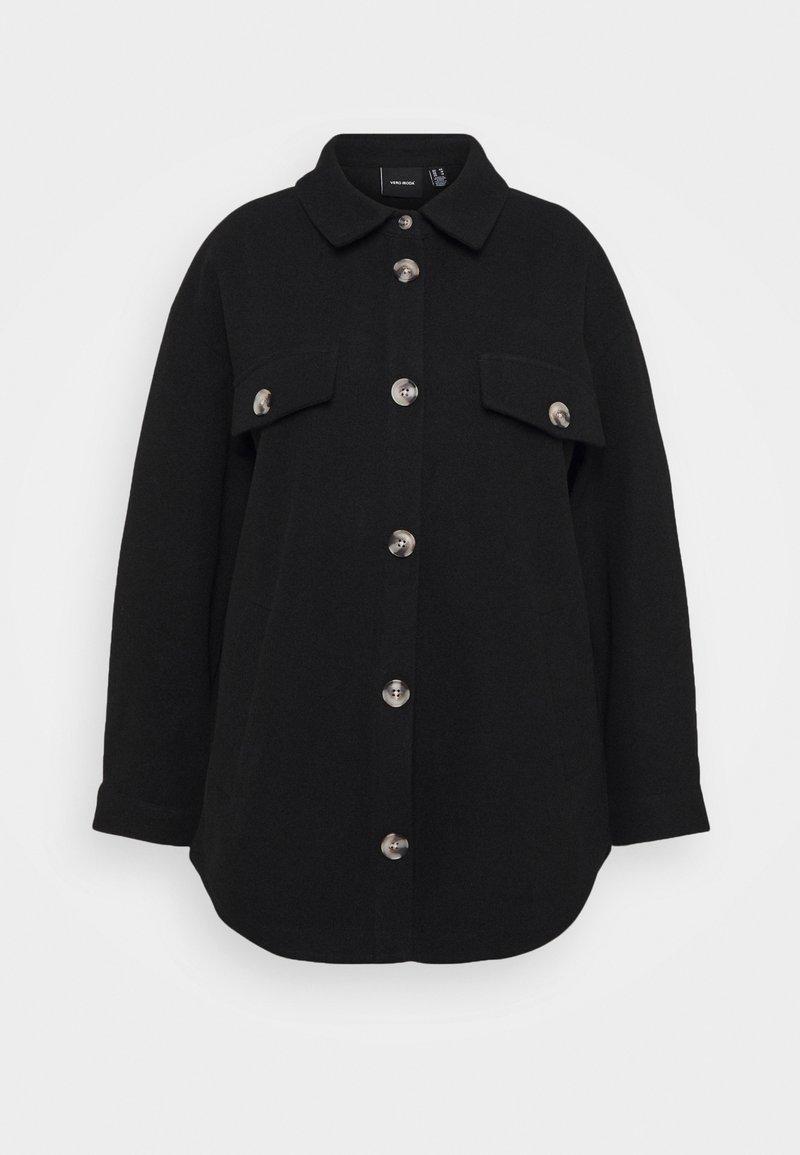 Vero Moda Curve - VMDAFNEALLY JACKET - Short coat - black/melange