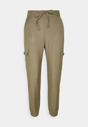 ONLVIVA LIFE PANT - Cargo trousers - covert green