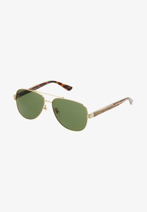 Sunglasses - gold-coloured/crystal/green