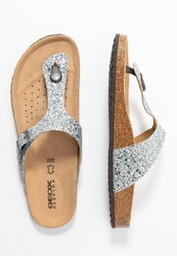 Geox - BRIONIA - T-bar sandals - silver - 3