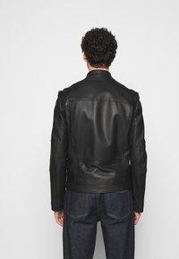 HUGO - LONOS - Kožená bunda - black - 2