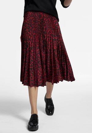 MIT LEO-DESSIN - Pleated skirt - red