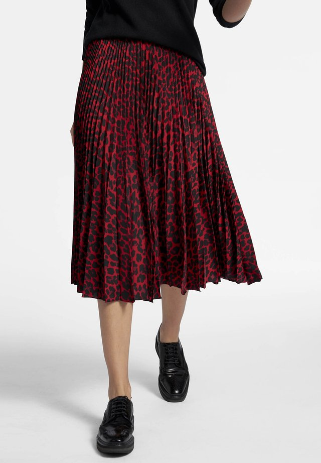 MIT LEO-DESSIN - Pleated skirt - red