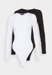 Missguided Tall - LONG SLEEVED BODYSUIT 2 PACK - Longsleeve - white - 0