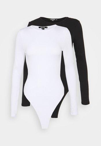 LONG SLEEVED BODYSUIT 2 PACK - Long sleeved top - white