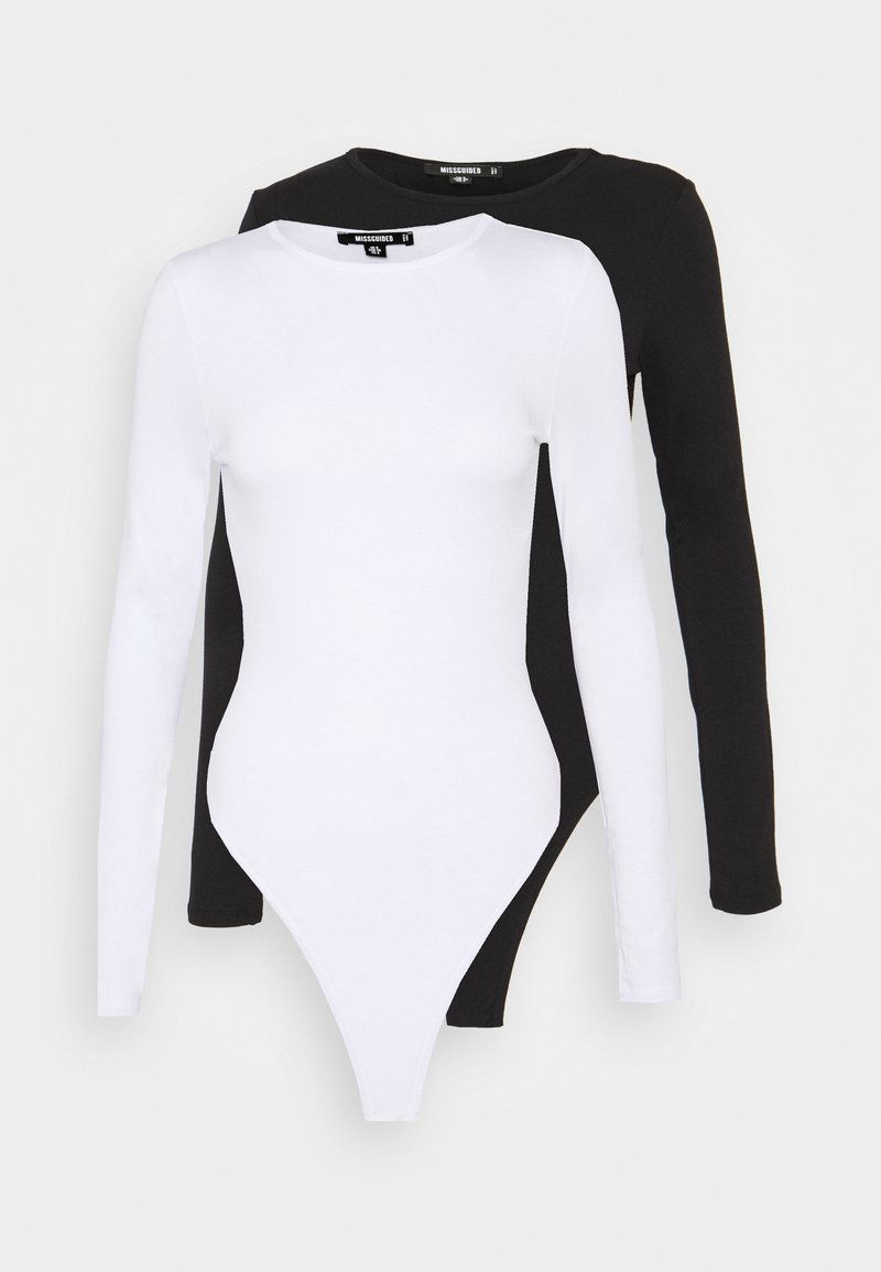 Missguided Tall - LONG SLEEVED BODYSUIT 2 PACK - Longsleeve - white