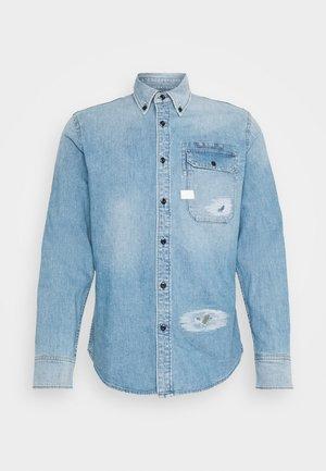 BRISTUM FLAP BUTTON DOWN long sleeve - Shirt - oregon blue restored