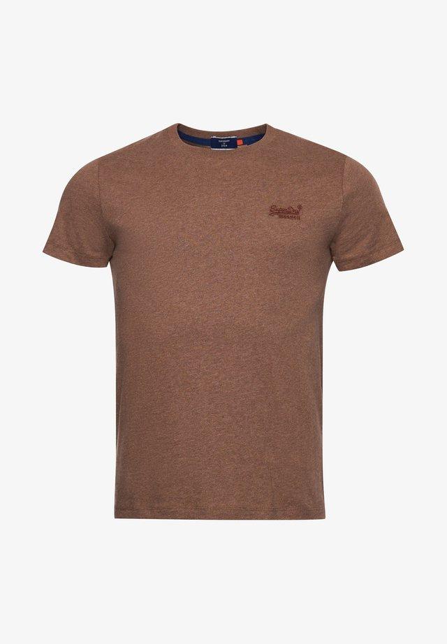 VINTAGE  - T-shirt - bas - buck tan marl