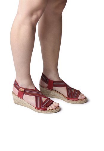 TINA - Sandals - burgundy