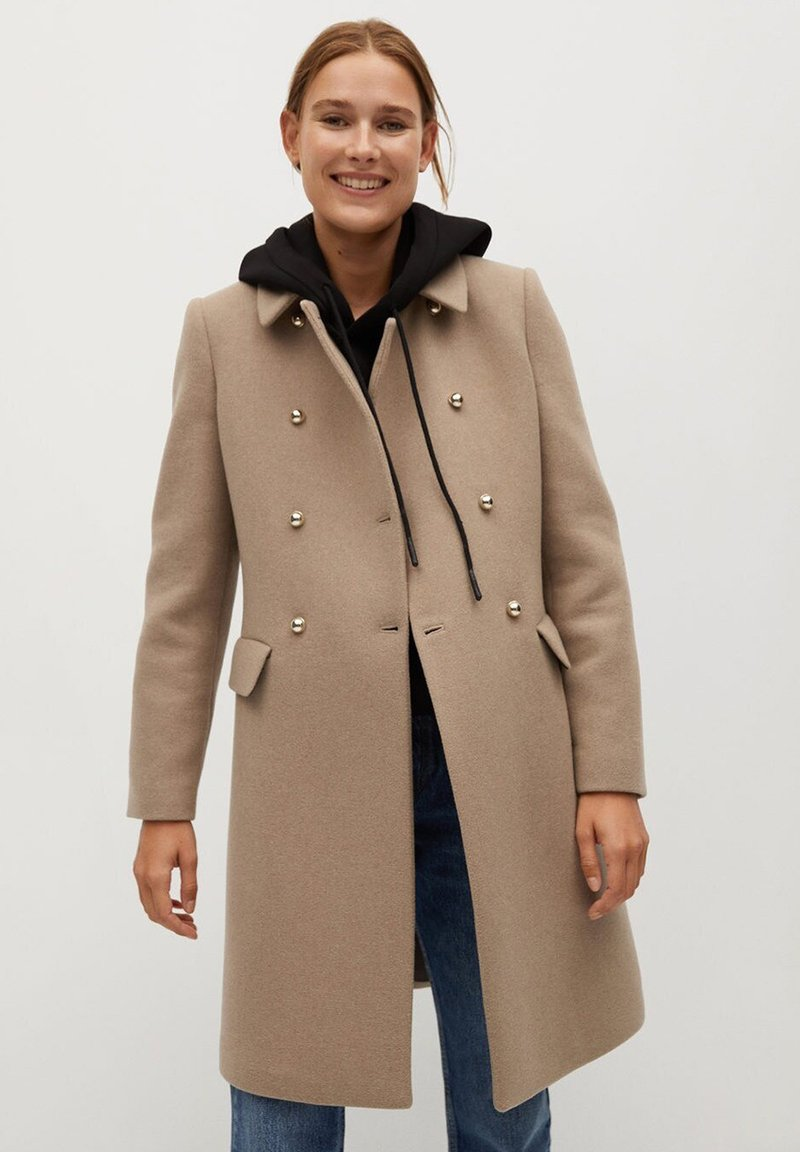 Mango - BOMBONS - Manteau classique - medium brown