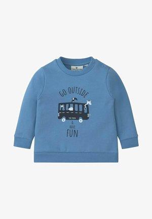 MIT PRINT - Sweatshirt - chalky azure/blue