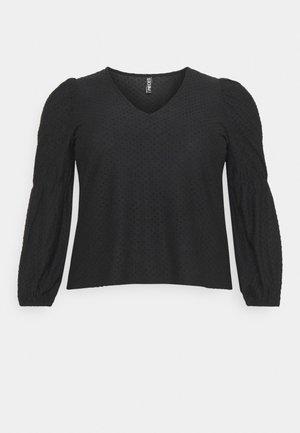 PCGERALDINE - Top sdlouhým rukávem - black