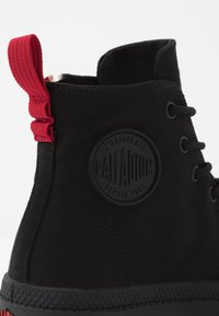 Palladium - VEGAN PAMPA FRENCH OUTZIP - Lace-up ankle boots - black - 5