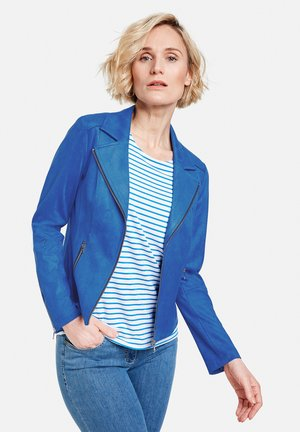 Faux leather jacket - aurora blue