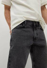 Mango - Jeans Tapered Fit - black denim - 4