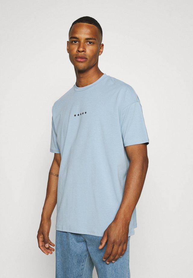 GLOBE PRINT - T-shirt con stampa - steel blue