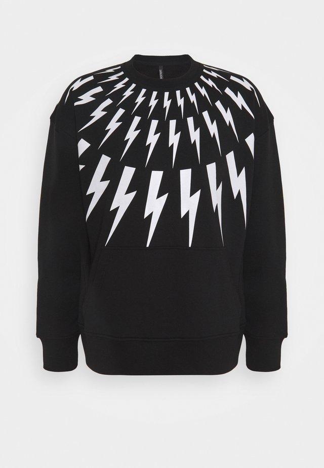THUNDERBOLT - Sweatshirts - black/white