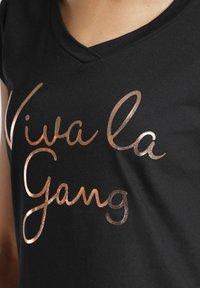 Gang - BASE VIVA - Print T-shirt - black - 2