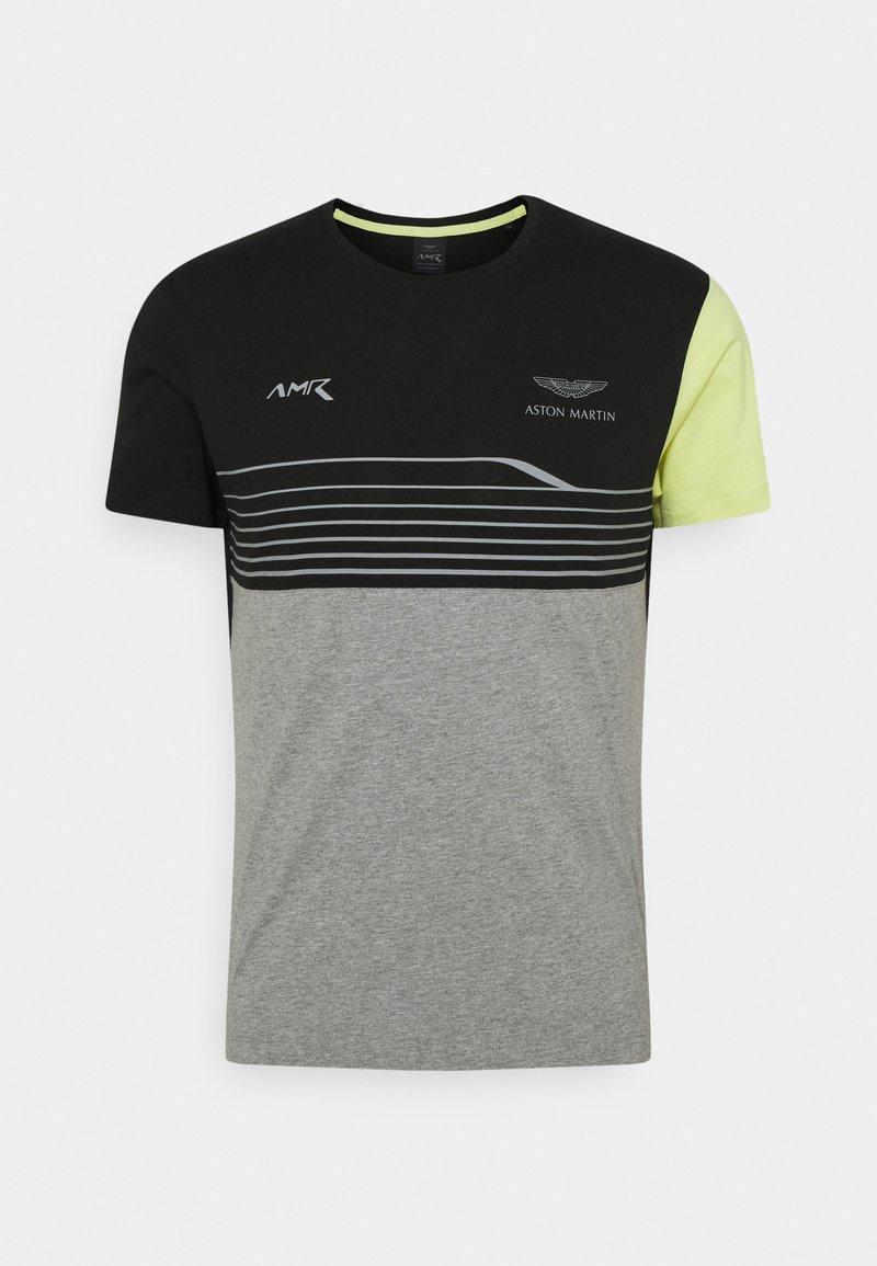 Hackett Aston Martin Racing - STRIPE TEE - T-shirt imprimé - black/grey
