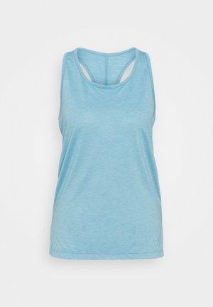 YOGA LAYER TANK - Treningsskjorter - cerulean heather/glacier blue/light armory blue