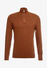 Burton Menswear London - CORE HALF ZIP  - Jersey de punto - natural - 3