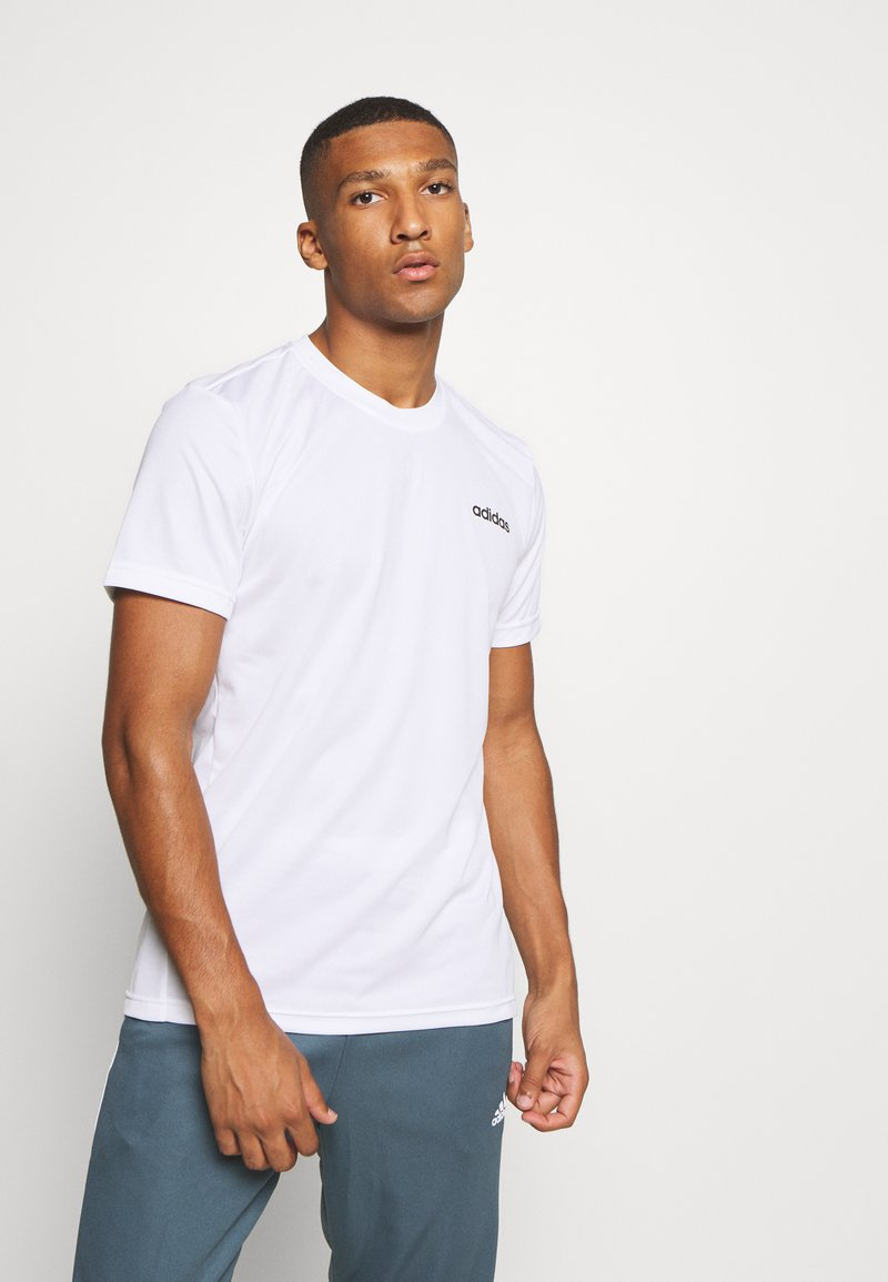 adidas Performance - TRAINING SPORTS SHORT SLEEVE TEE - Camiseta básica - white/black