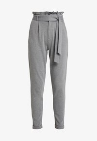 ONLY - ONLPOPTRASH EASY X PAPERBACK PANT - Trousers - medium grey melange - 3
