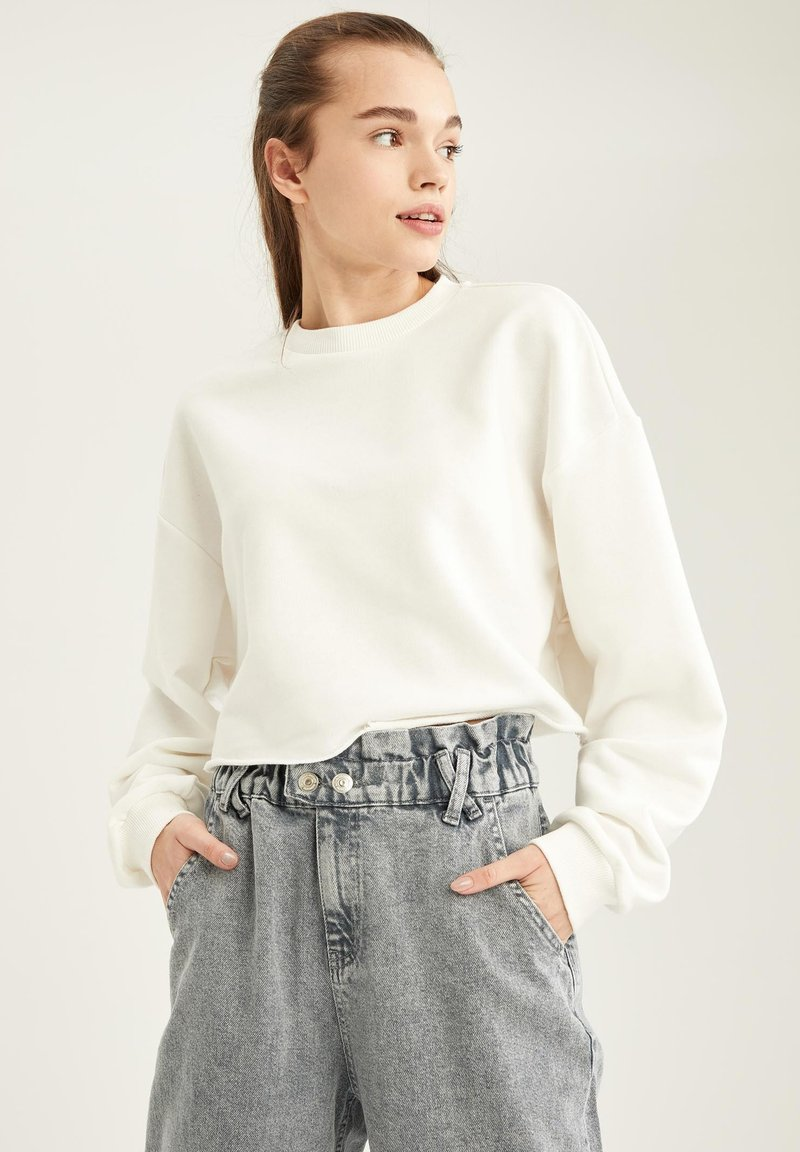 DeFacto - Sweatshirt - white
