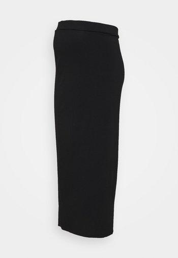 MATERNITY SKIRT - Długa spódnica - black