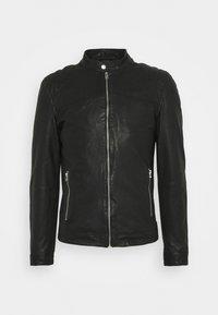 Goosecraft - GC ROSTOCK BIKER - Leather jacket - black - 5