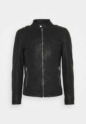 GC ROSTOCK BIKER - Leather jacket - black