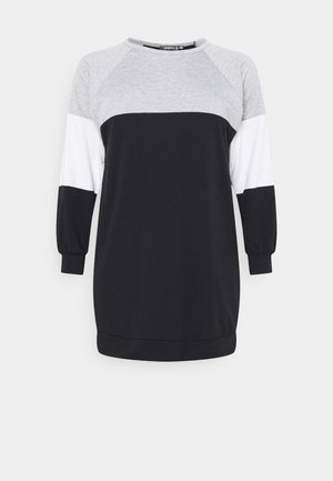 COLOURBLOCK DRESS - Day dress - black