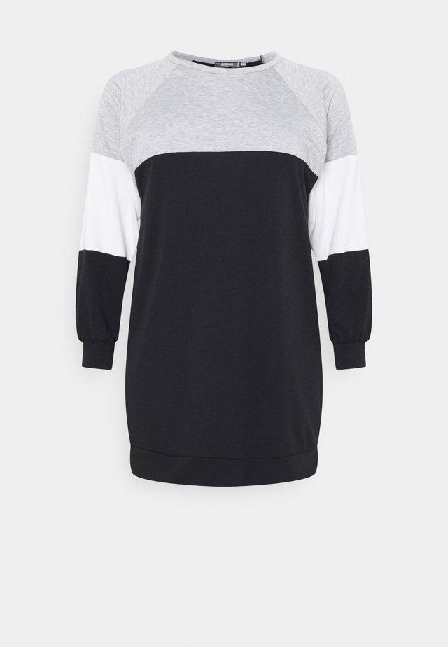 COLOURBLOCK DRESS - Vestido informal - black