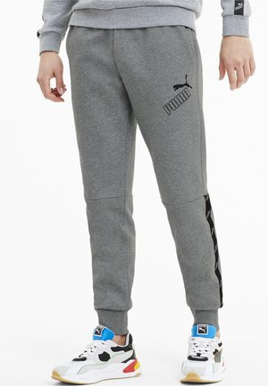 AMPLIFIED PANTS - Tracksuit bottoms - medium gray heather
