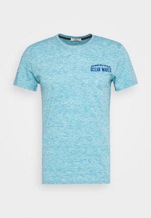 T-shirt z nadrukiem - teal melange