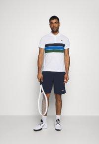 Lacoste Sport - RAINBOW STRIPES - Poloshirt - blanc /vert/bleu/bleu marine - 1