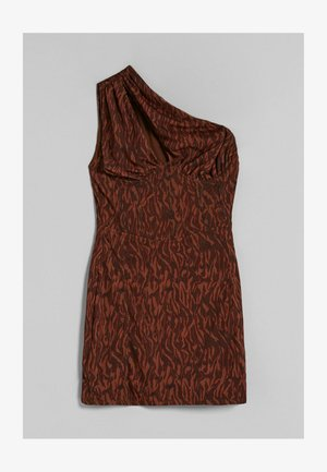 ASYMMETRISCHES MIT PRINT - Koktejlové šaty/ šaty na párty - brown