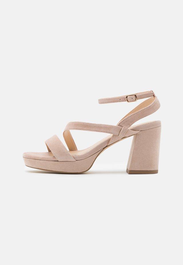 LEATHER - Korolliset sandaalit - nude