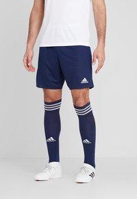 adidas Performance - PARMA PRIMEGREEN FOOTBALL 1/4 SHORTS - Korte sportsbukser - dark blue/white - 0
