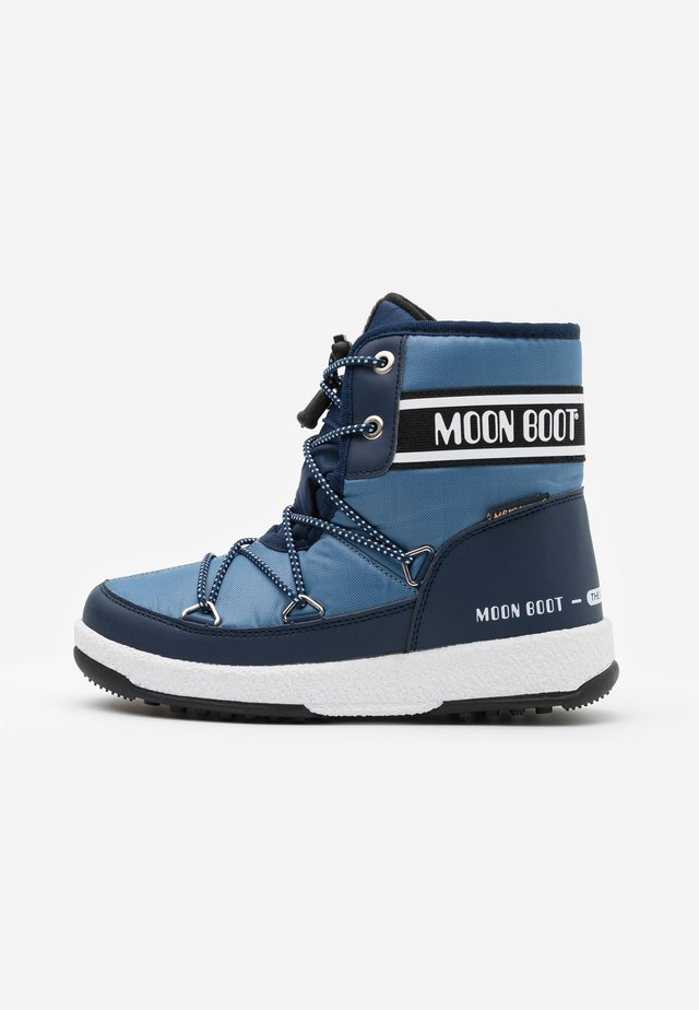BOY MID  - Winter boots - navy blue/avio