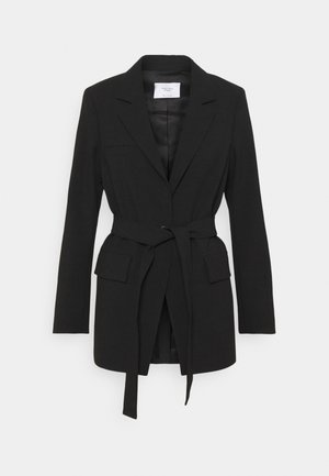BELTED SUMMER SUITING - Blazer - black