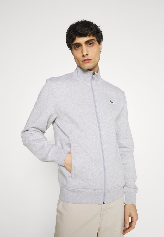 veste en sweat zippée - silver chine/elephant grey