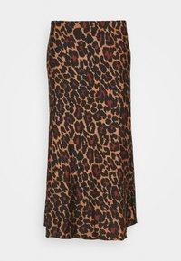 J.CREW - MARCO SKIRT LEOPARD - Áčková sukně - brown black - 0