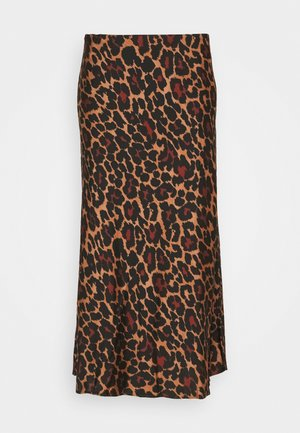 MARCO SKIRT LEOPARD - Áčková sukně - brown black