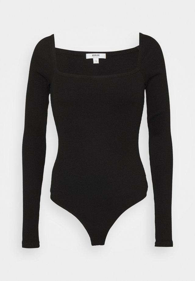 HANLEY SQUARE NECK - Langærmede T-shirts - black