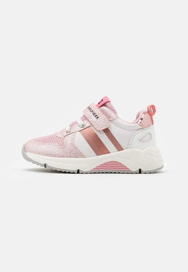 Sneakers laag - pink/white